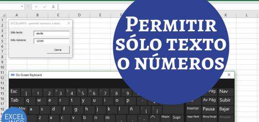 Permitir ingreso de texto o números en TextBox de Formulario en Excel VBA