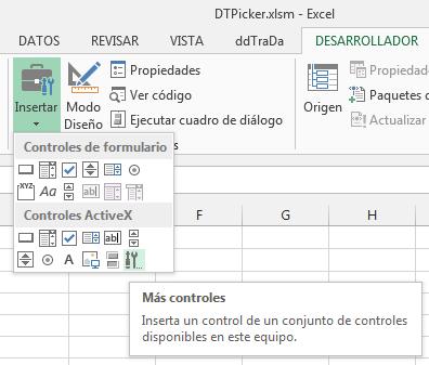 Calendario Su Excel.Mostrar Control De Calendario Al Elegir Una Celda En Excel