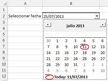 Calendario Dinamico Excel.Mostrar Control De Calendario Al Elegir Una Celda En Excel