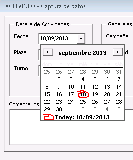 Control Date and Time Picker en Excel