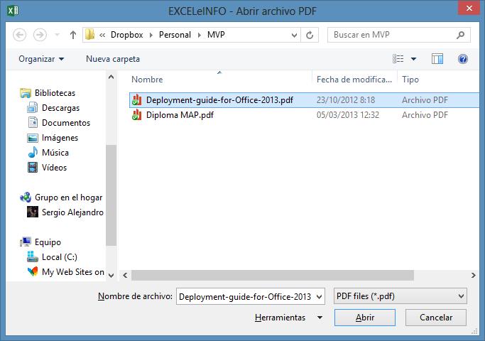 Examinar en buscar de archivos PDF