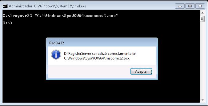 Registrar OCX en Windos 64 bits