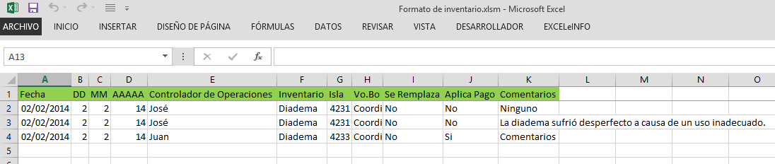 Guardar datos en otra de Excel
