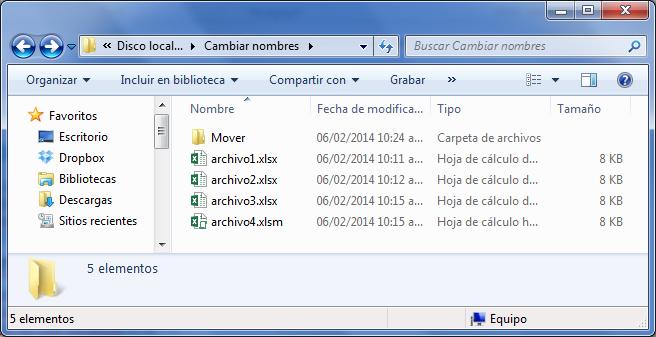 Mover archivo de carpeta desde Excel