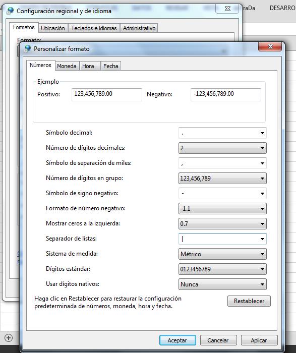 Cambiar separador de listas en Panel de Control de Windows