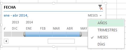 Escala de tiempo en Excel