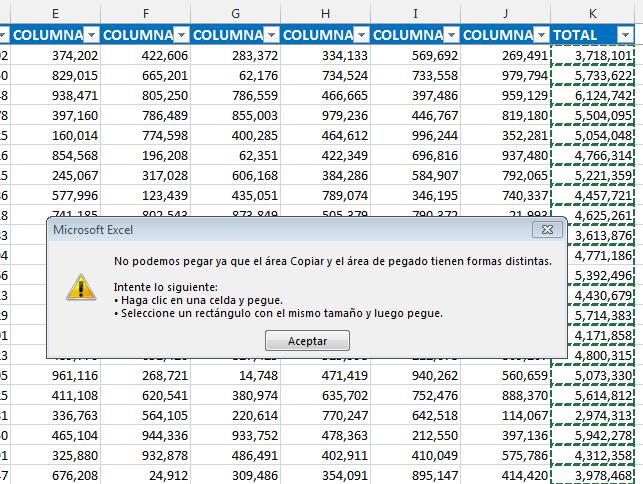Copiar y pegar valores en datos filtrados en Excel