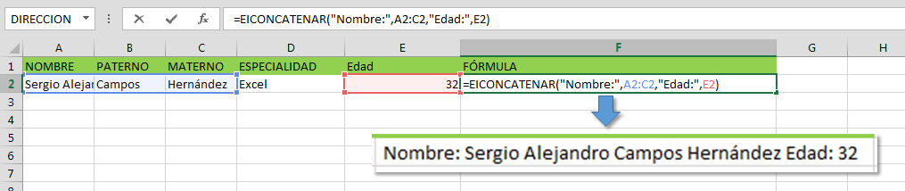 UDF EICONCATENER en Excel