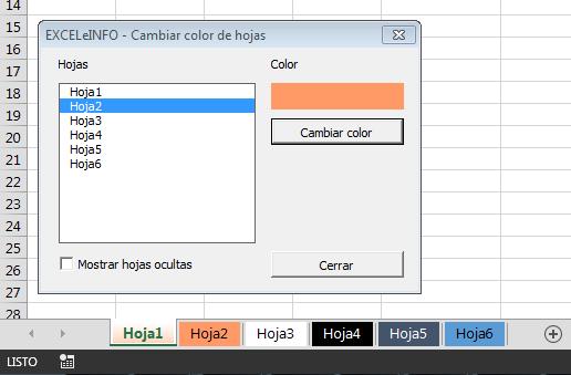 Cambiar color a hojas de Excel mediante formulario vba – EXCELeINFO