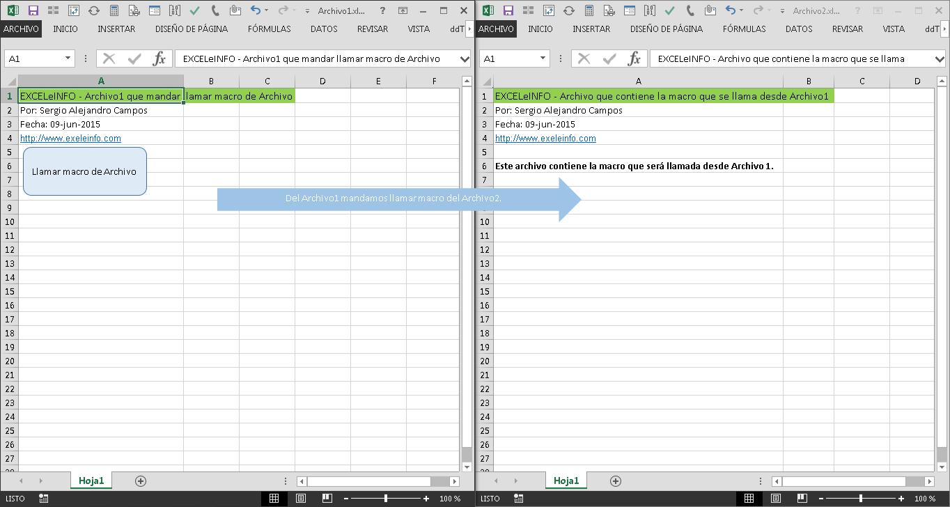 Ejecutar macros de otro archivo de Excel y pasar argumentos a Procedimientos