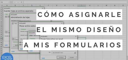 Macro VBA para asignarle el mismo diseño a todos tus formularios en Excel