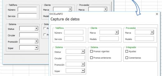 Personalizar a nuestro gusto el diseño de los formularios creados en Excel vba