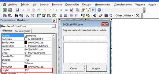 Búsqueda inteligente en un formulario de Excel vba