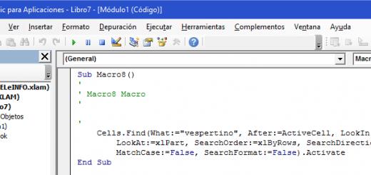 Obtener código vba de la grabadora de macros de Excel