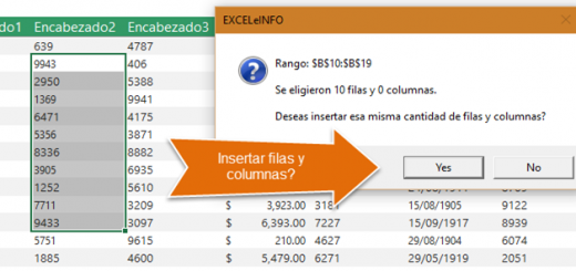 Macro para elegir e insertar n cantidad de filas y columnas en Excel