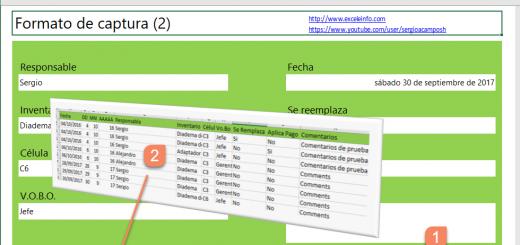 Formulario de captura en Excel que guarda datos en otro archivo de Excel