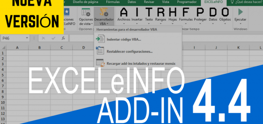 Indentación de código VBA - EXCELeINFO add-in