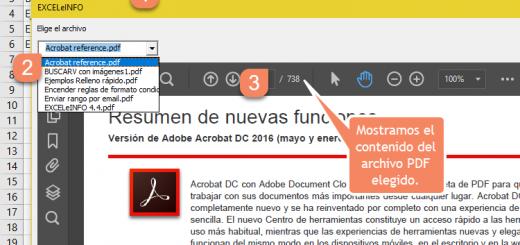 Abrir archivos PDF en Excel mediante Combobox usando macros vba