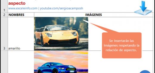 Insertar imágenes en Excel y ajustar tamaño a celdas con macros vba