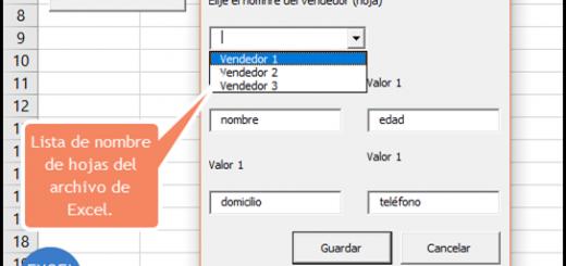 Formulario de captura en Excel que guarda datos en varias hojas usando VBA y macros