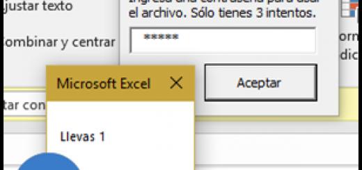 3 intentos de contraseña para abrir un archivo de Excel y no poder usar si las macros están deshabilitadas