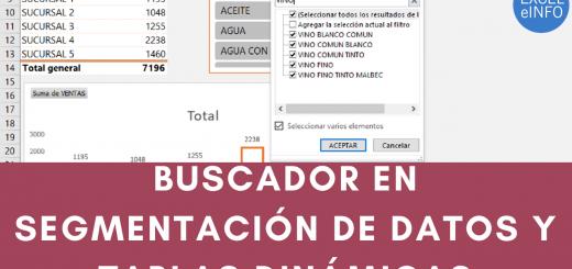 Agregar un buscador a un Slicer en Excel - Segmentación de datos en Tabla dinámica - Dashboard Tips