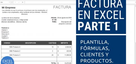 Factura en Excel Parte 1 - Plantilla, Fórmulas y listas de validación de clientes y productos