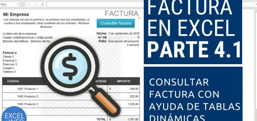 Factura en Excel Parte 4.1 - Consultar factura histórica usando Tablas dinámicas