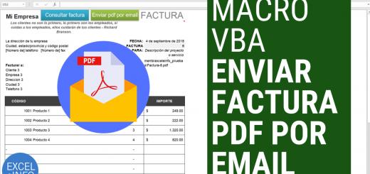 Factura en Excel Parte 5 - Macro VBA para enviar PDF de la factura por email