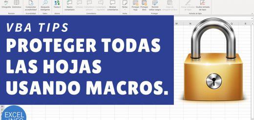 Proteger y desproteger varias hojas en Excel usando macros - VBA Tips