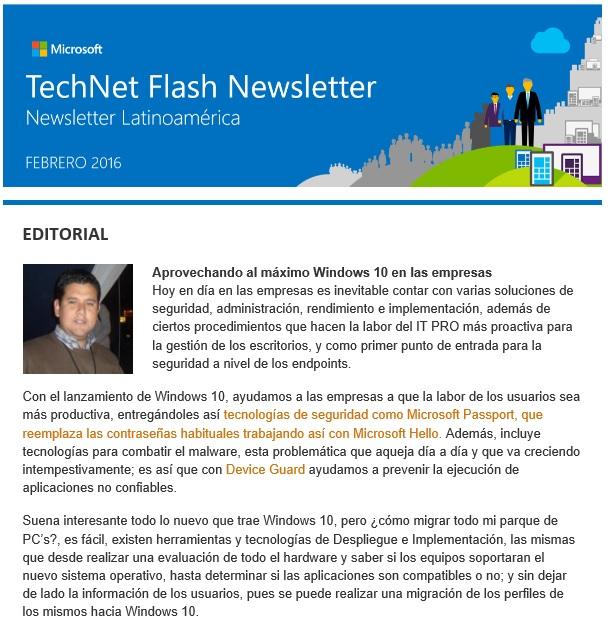 TechNet Newsletter 2016