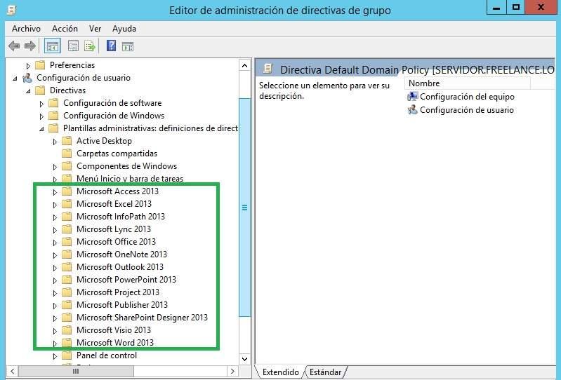 Instalación de las Plantillas Administrativas (ADMX/ADML) de Office ...
