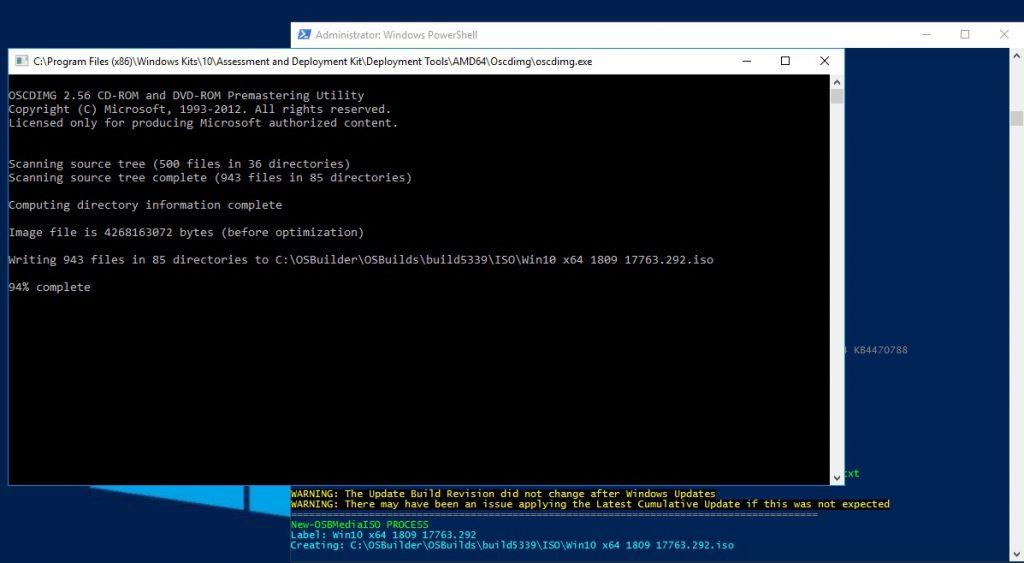 Trabajando Windows 10 1809 con OSBuilder – Blog de Octavio Rdz
