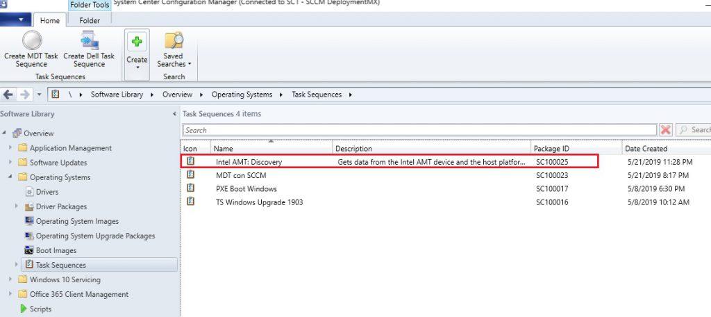 Instalación de Intel SCS en SCCM para el descubrimiento de