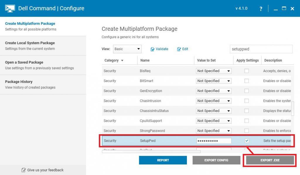 Using Dell Command Configure to Modify Bios from Microsoft