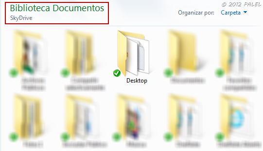 Ruta de la carpeta DESKTOP cambiada a Mis Documentos \ SkyDrive