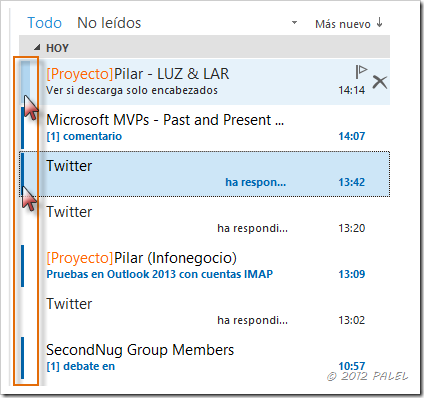 Bandeja de entrada - Outlook 2013 - Leídos - No leídos II