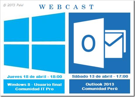 WebCast para abril del 2013