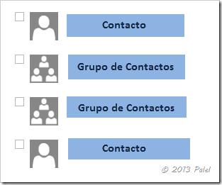 Gestión de contactos VI