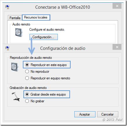 Sonido en máquinas virtuales con W8.1