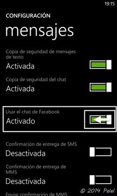 Chat de Facebook - Palel.es