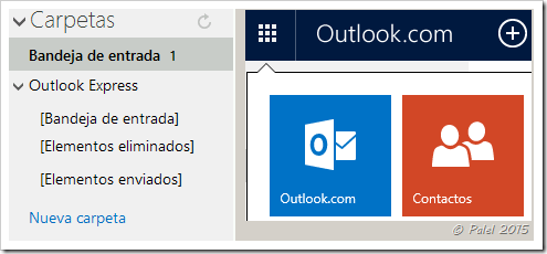 Importar contenido de Outlook Express en Outlook.com - Palel.es
