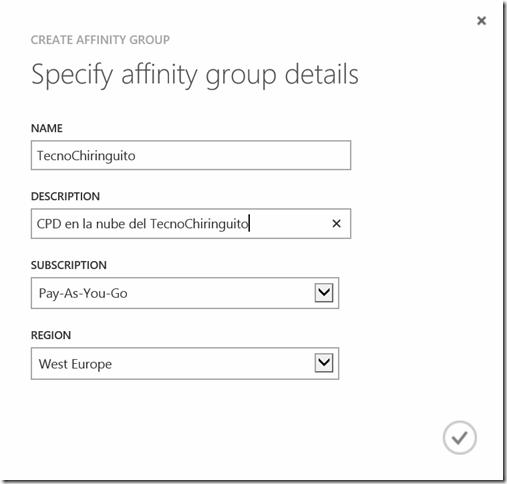 Azure Affinity Group