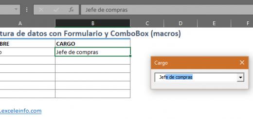 Con validación de datos no puedo autocompletar, pero sí usando macros en Excel