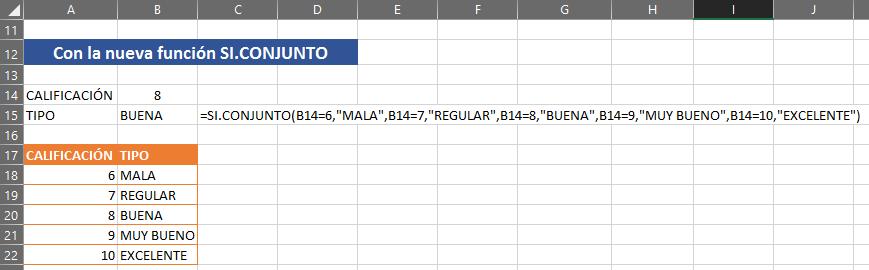SI.CONJUNTO en Excel