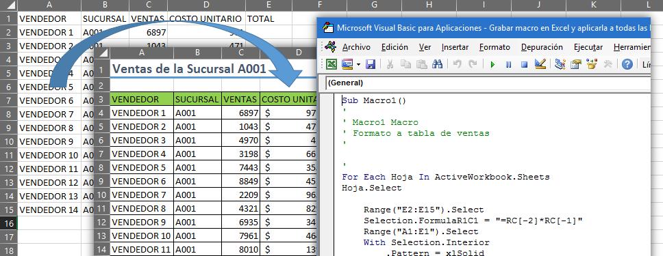 Grabar macro en Excel y aplicarla a todas las hojas – EXCELeINFO