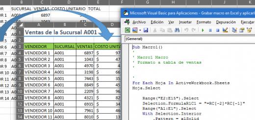 Grabar macro en Excel y aplicarla a todas las hojas