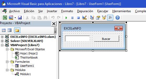 Formluario para Buscar con macros en Excel