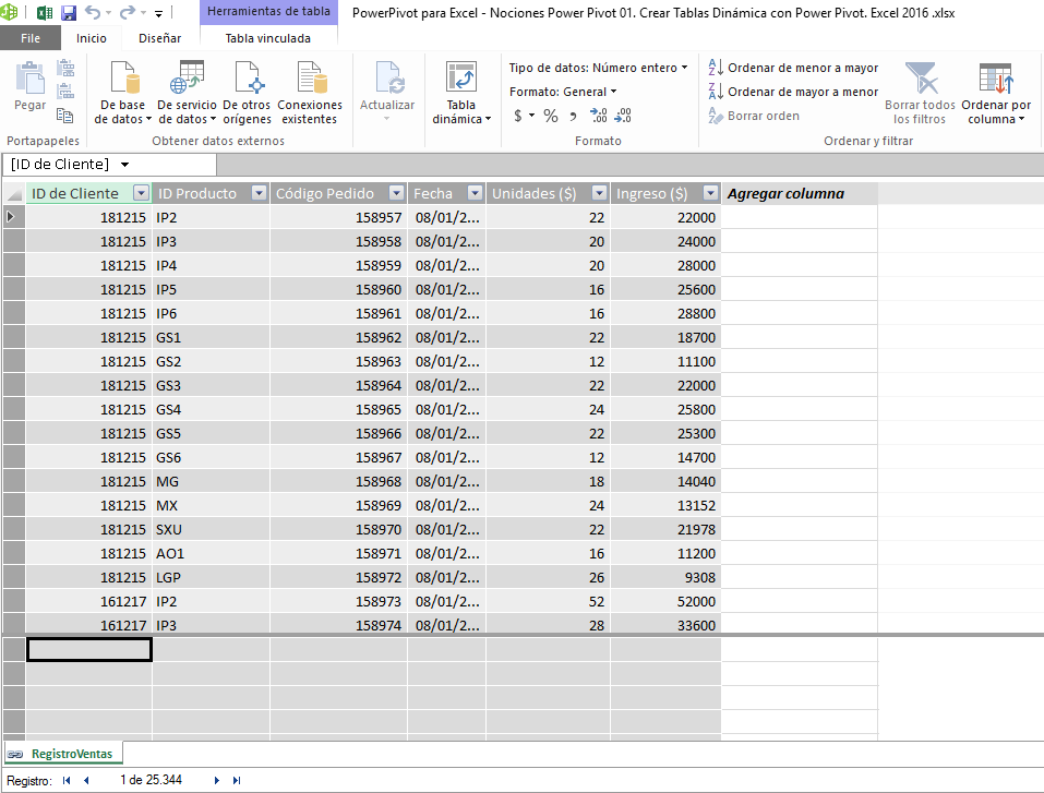 Power Pivot en Excel