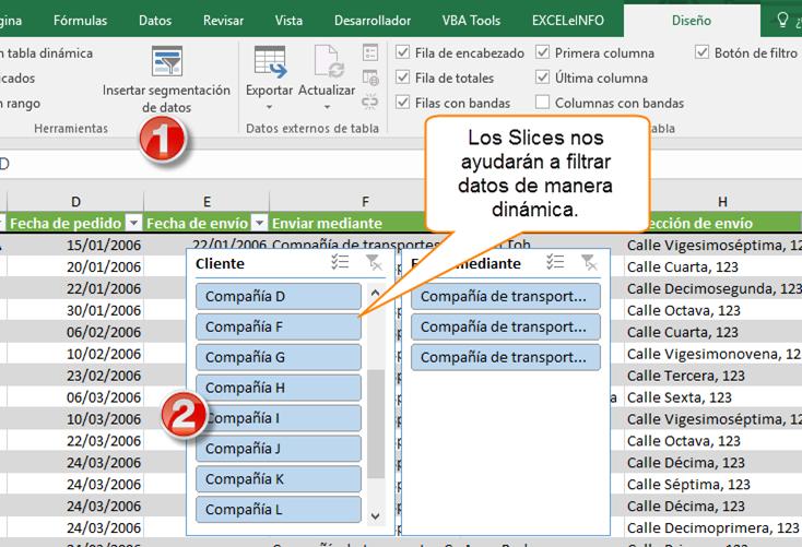Los Slices nos ayudarán a filtrar datos de manera dinámica.